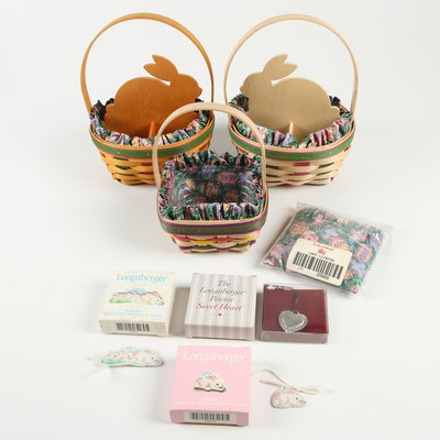 Longaberger Easter Baskets with Ornaments