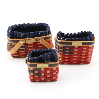 Bradford Flag Series Hand-Woven Baskets, Late 1990s