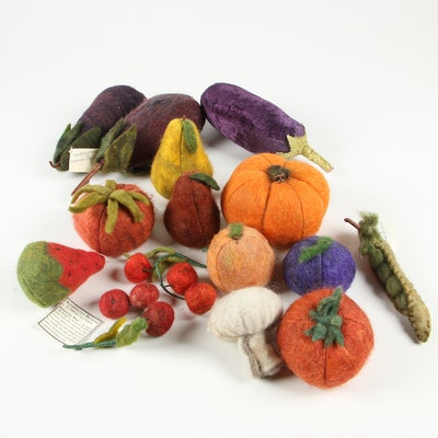 Felted Wool Decorative Fruit