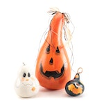 Halloween and Fall Themed Painted Gourds