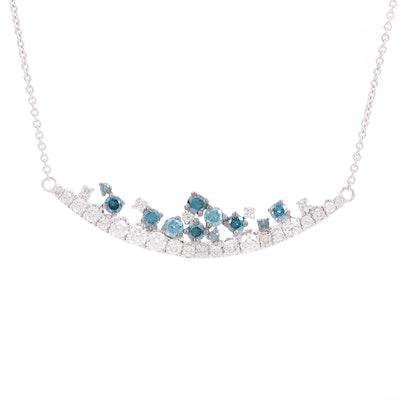 EFFY 14K White Gold 1.01 CTW Diamond Stationary Necklace