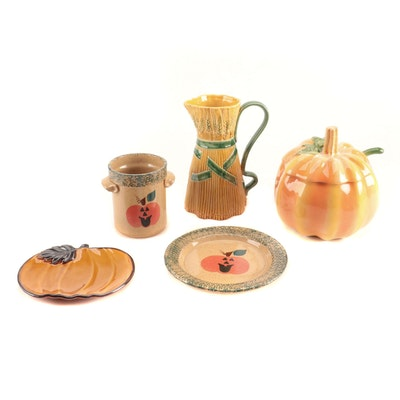 Pumpkin and Halloween Themed Stoneware and Ceramic Tableware