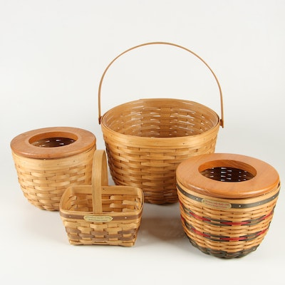Bradford Basket Company Woven Baskets Including Christmas Cookie Basket 1998