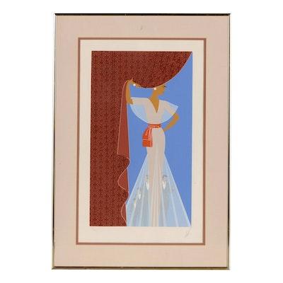"Erté Serigraph ""The Curtain"", 1977"