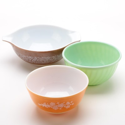 Pyrex Cinderella and Mixing Bowls with Fire-King Mixing Bowl