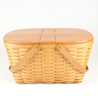 Bradford Basket Co. Picnic Basket with Double-Hinged Lid, 1999