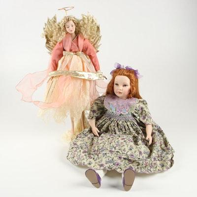 "Pauline Bjoness Jacobson ""Patricia"" Doll and Seymour Mann ""Love Angel"" Doll"
