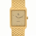 Paul Breguette 14K Yellow Gold Quartz Wristwatch