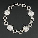 14K White Gold 1.14 CTW Diamond Bracelet