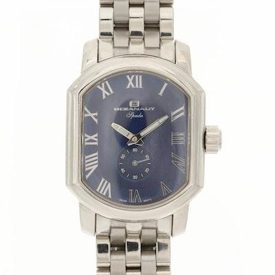 Oceanaut Spada Stainless Steel Quartz Wristwatch with Blue Dial