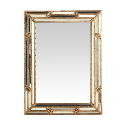 Oval Oak Framed Beveled Mirror Ebth