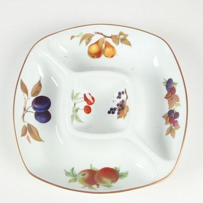 """Royal Worcester """"Evesham"""" Porcelain Square Crudité Platter"""