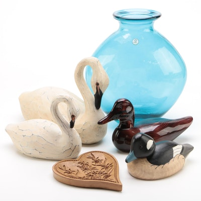 Bundy Duck Decoy, Plaster Swans, and Other Home Décor