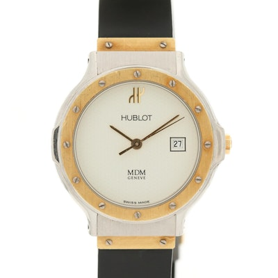 Hublot MDM Classic 18K Gold and Stainless Steel Quartz Wristwatch