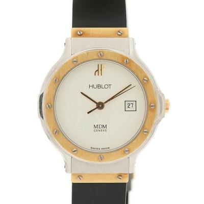 Hublot MDM Classic 18K Gold and Stainless Steel Quartz Wristwatch