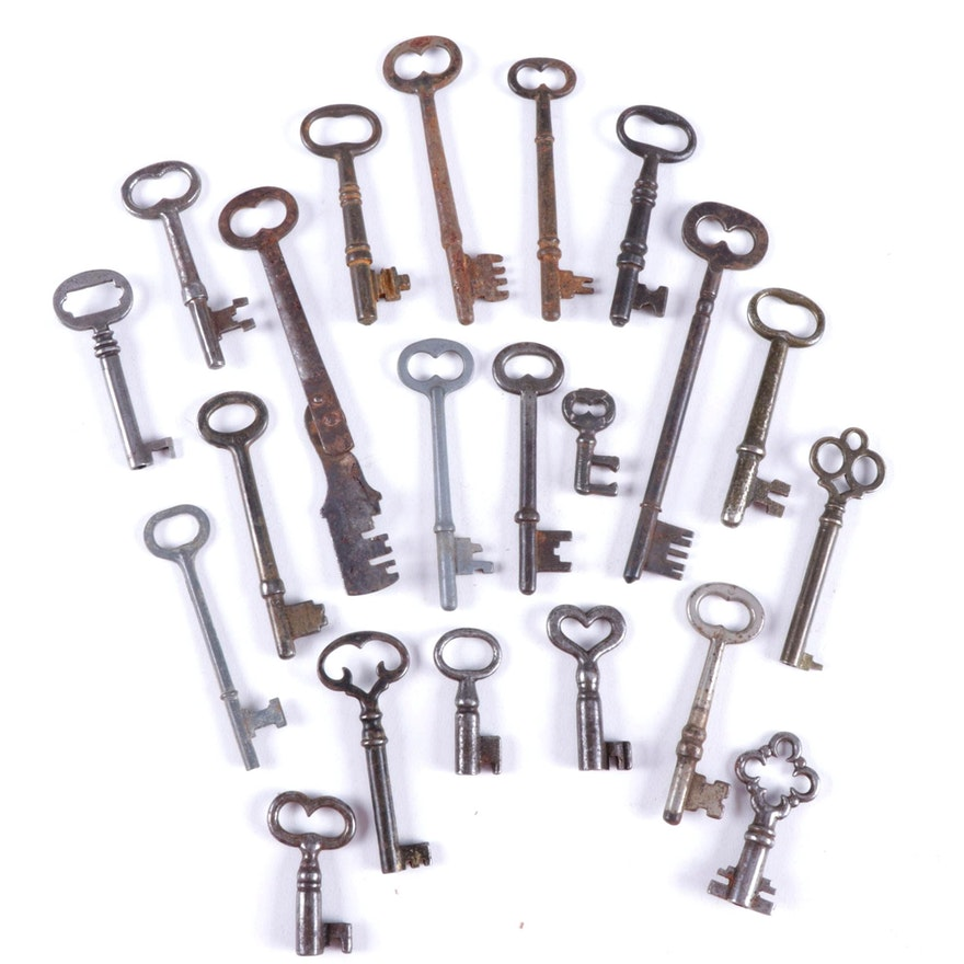 Antique Skeleton Key Collection
