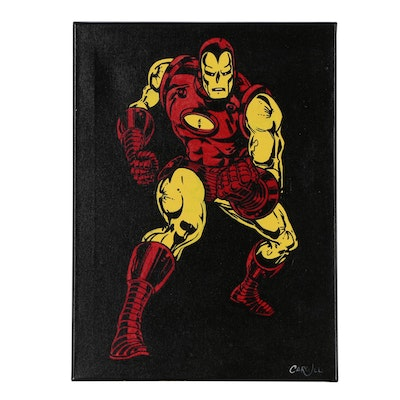 Chris Cargill Acrylic Painting of Iron Man