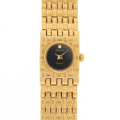 Seiko Gold Tone Quartz Wristwatch