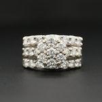 14K White Gold 4.20 CTW Diamond Ring