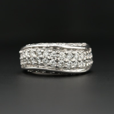 14K White Gold 2.48 CTW Diamond Ring