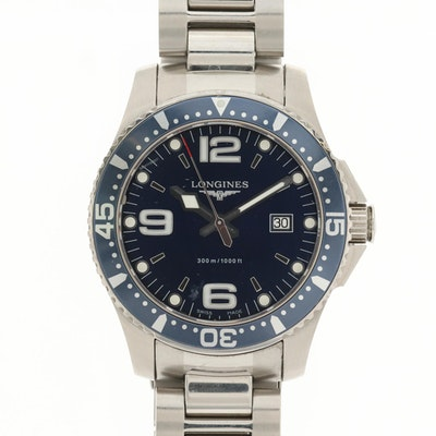 Longines Hydro Conquest Stainless Steel Wristwatch