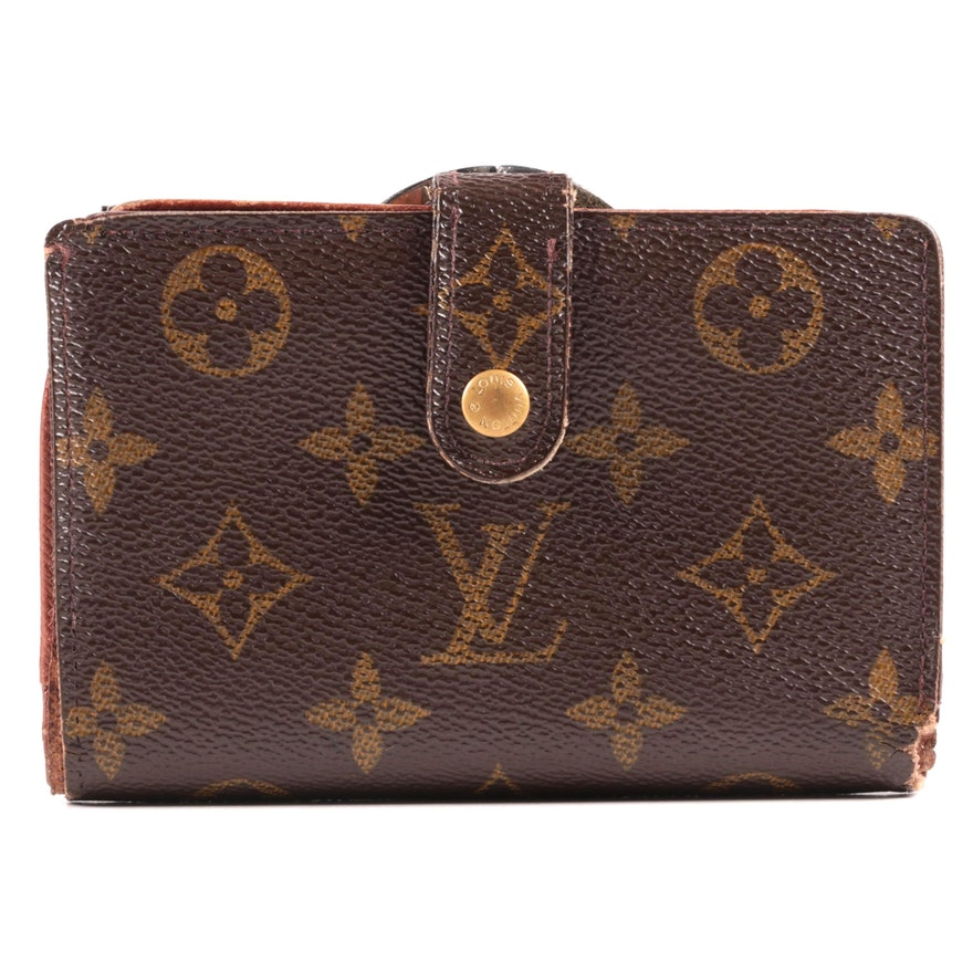Louis Vuitton Paris Monogram Canvas Portefeuille Viennois Wallet