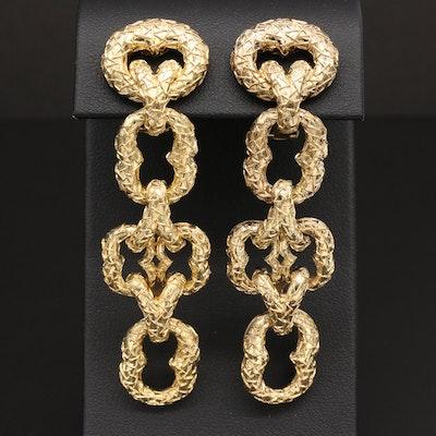 Wander France 18K Yellow Gold Link Earrings