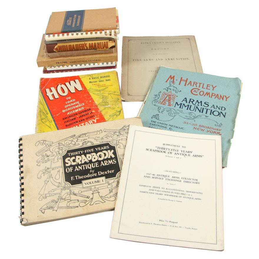 """Firearms Books including 1936 """"Sixgun Cartridges and Loads"""" by Elmer Keith"""