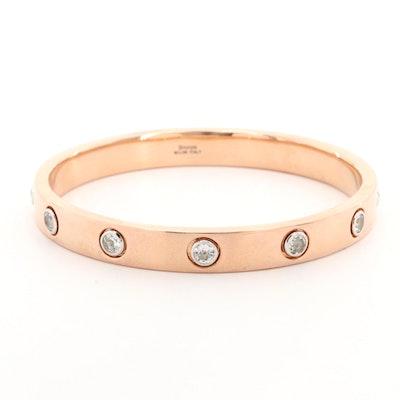Bronze Topaz Bangle Bracelet