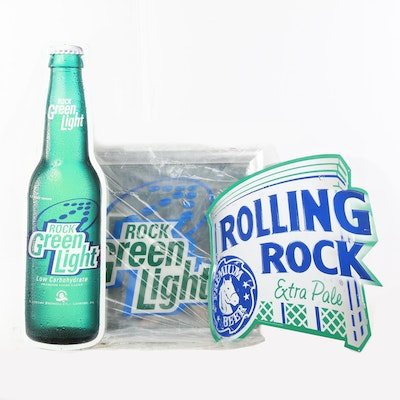 """Rolling Rock Beer """"Extra Pale"""" and """"Green Light"""" Signage"""