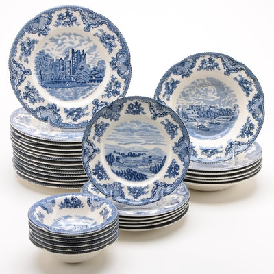 "Johnson Bros ""Old Britain Castles"" Ceramic Dinnerware"