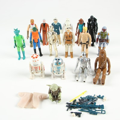 Kenner Star Wars Action Figures Including Yoda, C-3PO, Darth Vader and Others