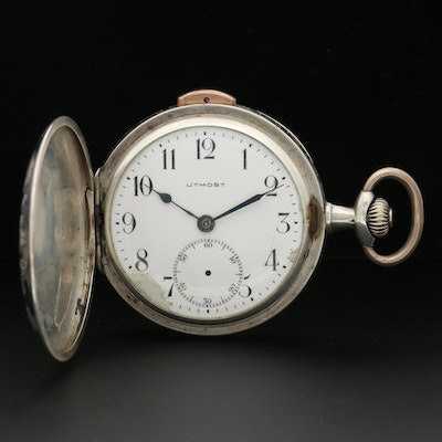 Le Phare Sterling Quarter Repeater Pocket Watch with Niello and Rose Gold Accent