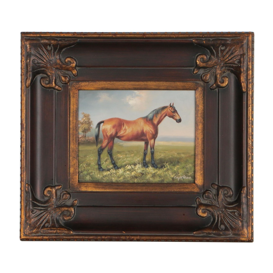 Equine Portrait Oil Painting