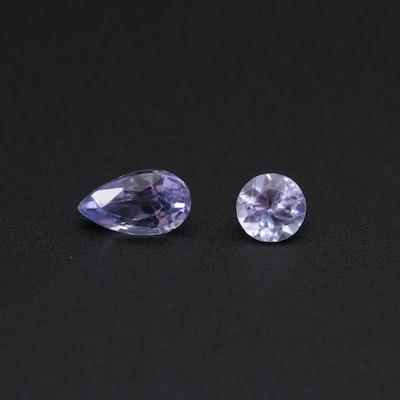 Loose 0.33 CTW Tanzanite Gemstones
