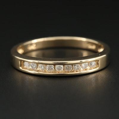 10K Yellow Gold Diamond Channel Ring