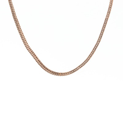 14K Rose Gold Wheat Chain