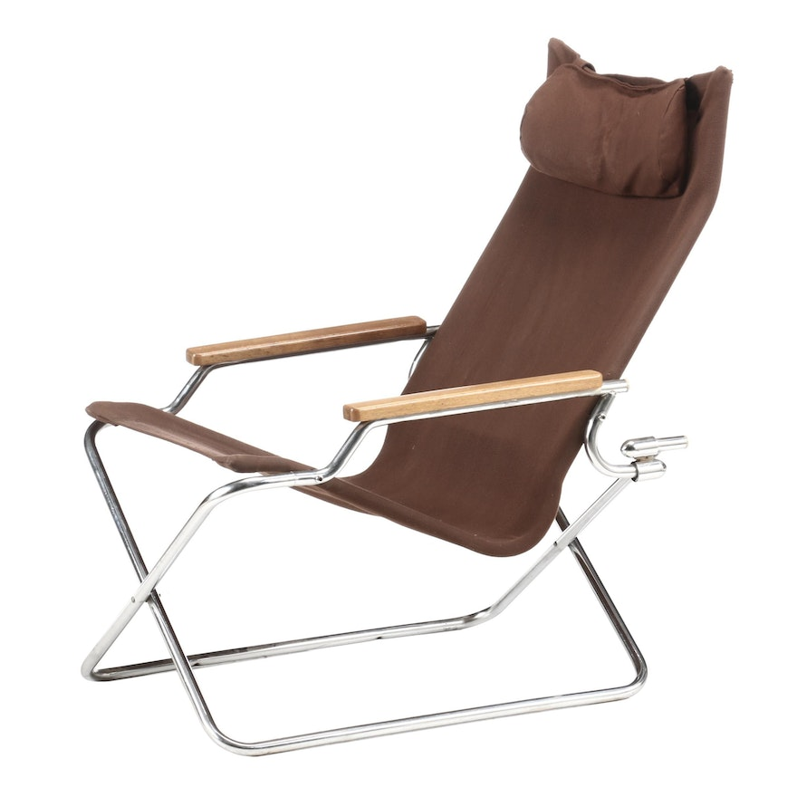 "Uchida ""Z"" Chair Canvas Folding Chair, Contemporary"
