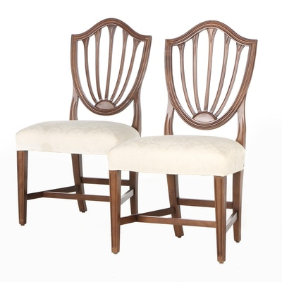 Hepplewhite Style Shield-Back Side Chairs, Mid-20th Century