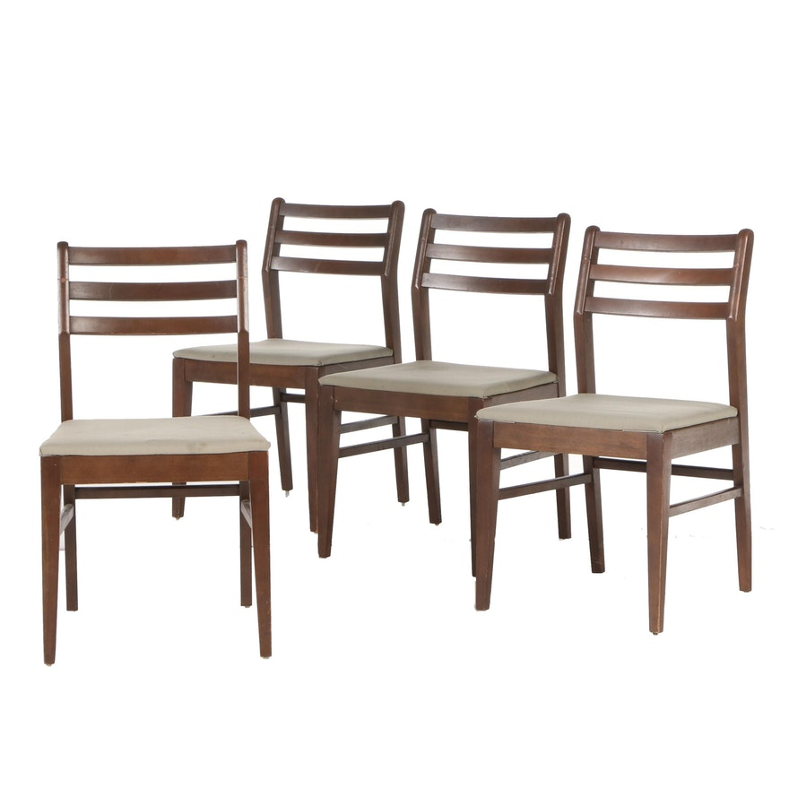 Four Vintage Mahogany Side Chairs, Circa 1950s