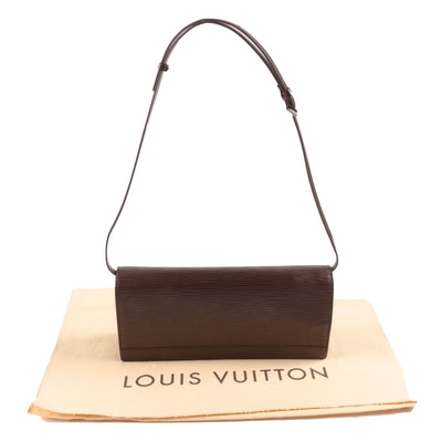 Louis Vuitton Honfleur Shoulder Bag in Moka Epi Leather