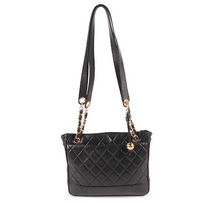 Chanel Black Quilted Lambskin Leather Shoulder Bag, Vintage