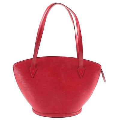 Louis Vuitton Saint Jacques Tote in Castilian Red Epi Leather