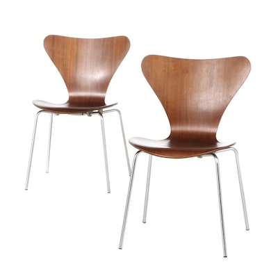 "Pair of Danish Teak ""Ant"" Chairs by Fritz Hansen, Mid-20th Century"