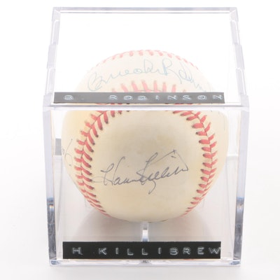 Robinson, Fingers, Killebrew, and Campaneris Signed Rawlings Baseball, JSA COA