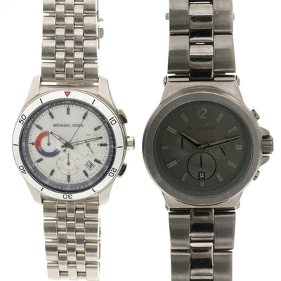 Michael Kors Stainless Steel Chronograph Wristwatches