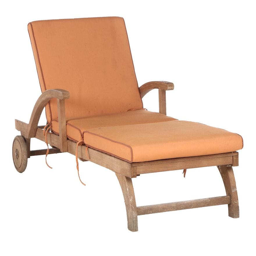 Arthur Lauer Pool Chaise Lounge in Brazilian Hardwood