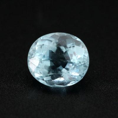 Loose 0.85 CT Aquamarine Gemstone