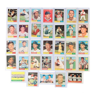 1961 Topps Baseball Cards with Mantle, Hall of Fame Players,Autographs and stars