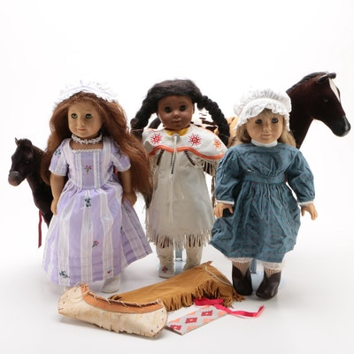 "American Girl Dolls Featuring ""Kaya"" and Her Horse ""Steps High"""